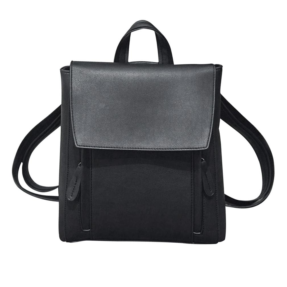 FGGS Women Girl Leather Shoulder Bookbags School Bag Satchel Travel Backpack  Black Book Bags Herschel Backpacks From Wangbeiche,  23.7  DHgate.Com 381dcf4e67