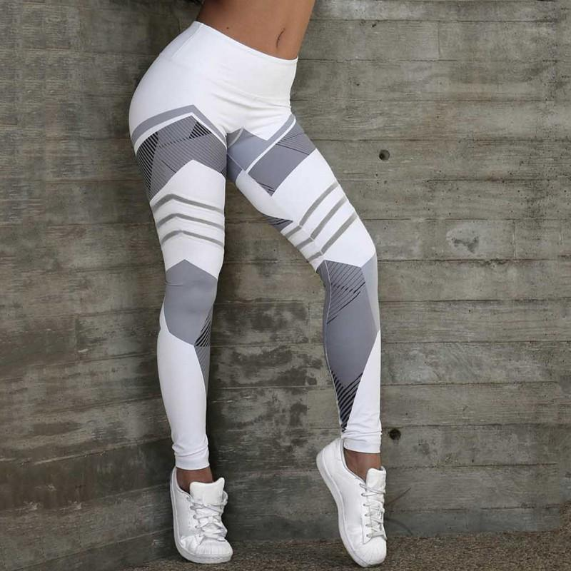 432f2a0b0b861 2019 Women Color Blocks Geometric Printted Panelled Skinny Trousers Ladies  Elastic Capris Fitness Leggings Pencil Pants From Piaocloth, $37.49 |  DHgate.Com