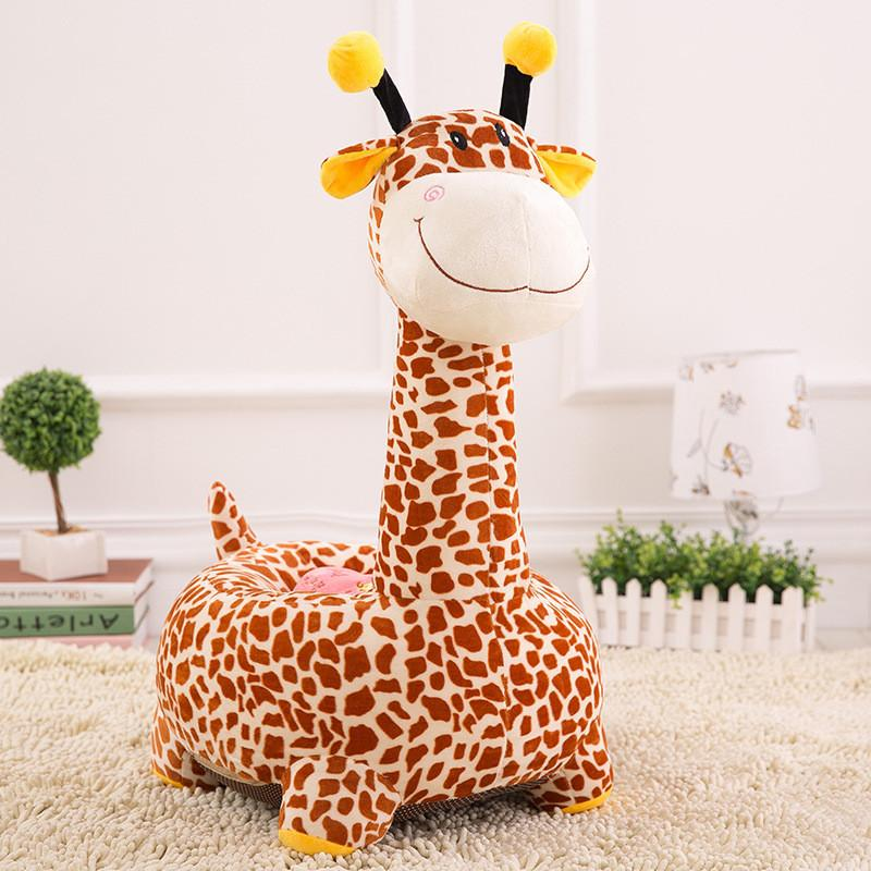 Cartoon Giraffe Child Seat Pp Cotton Kindergarten Small Sofa