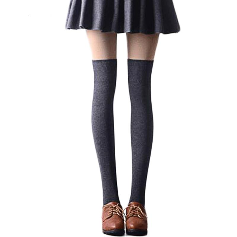 dc45e24cbc1 2019 Sexy Stockings Fashion Women Girl Thigh High Knee High Socks ...