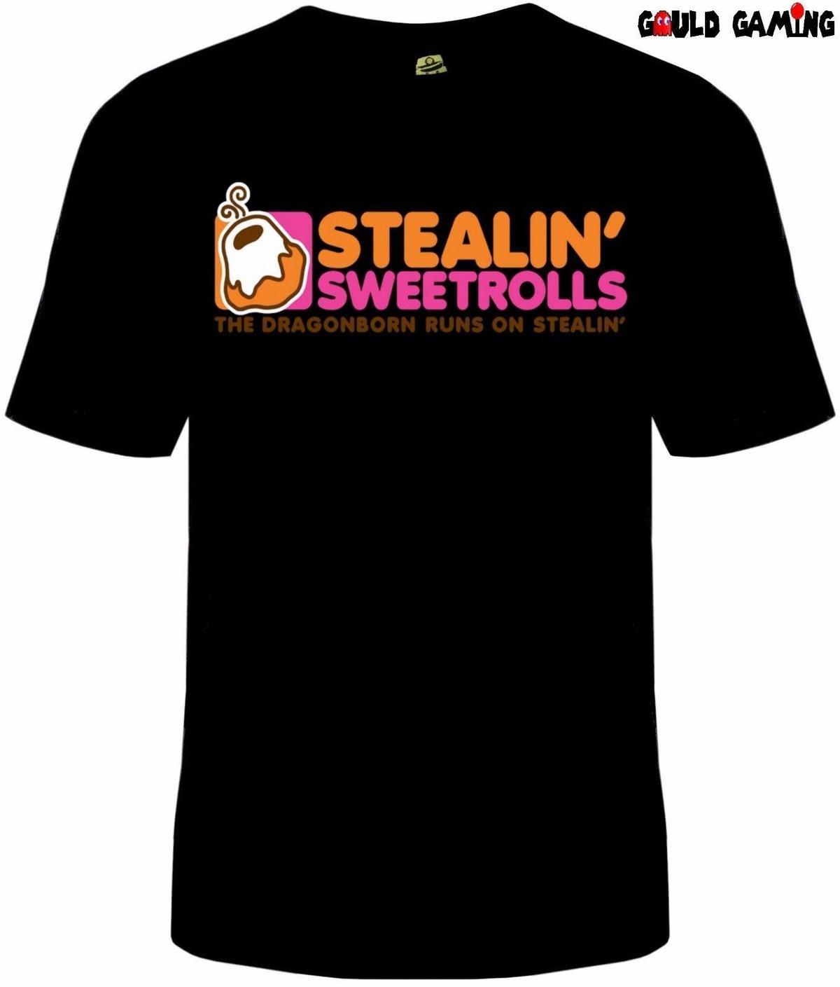 6076451d Skyrim Stealing Sweetrolls T Shirt Unisex Dragonborn Dunkin Donuts Sizes  New Funny T Shirts Online Hilarious T Shirts From Amesion06ljl, $12.08|  DHgate.Com