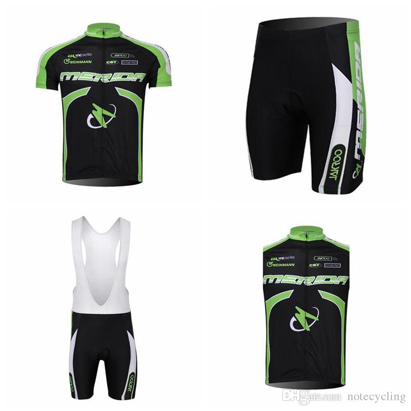 MERIDA Cycling Short Sleeves Jersey Bib Shorts Sleeveless Vest Sets ... 5e01c3c8e
