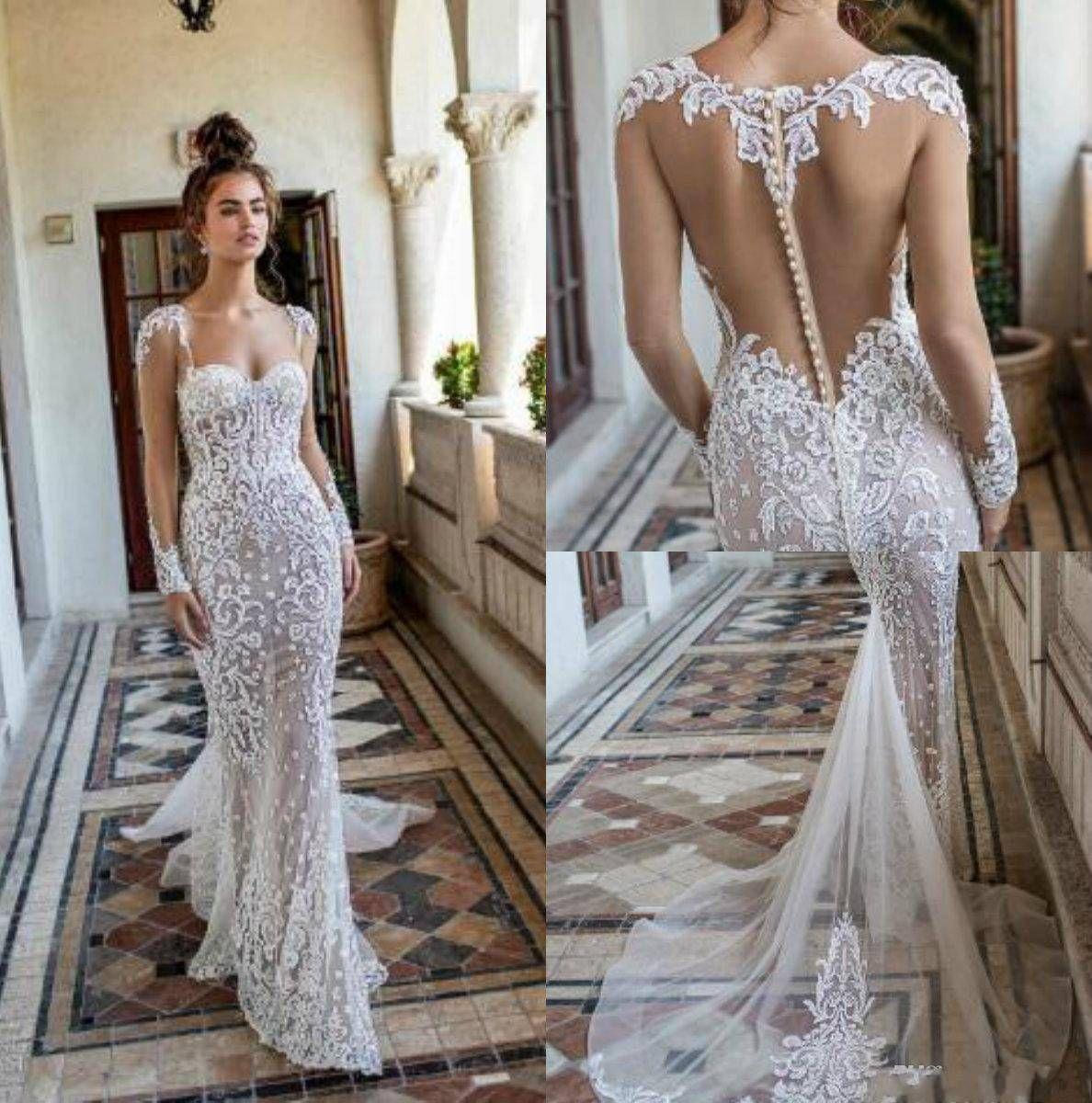 Mermaid Wedding Gowns 2019: Berta Spring 2019 Mermaid Lace Wedding Dresses Sweetheart
