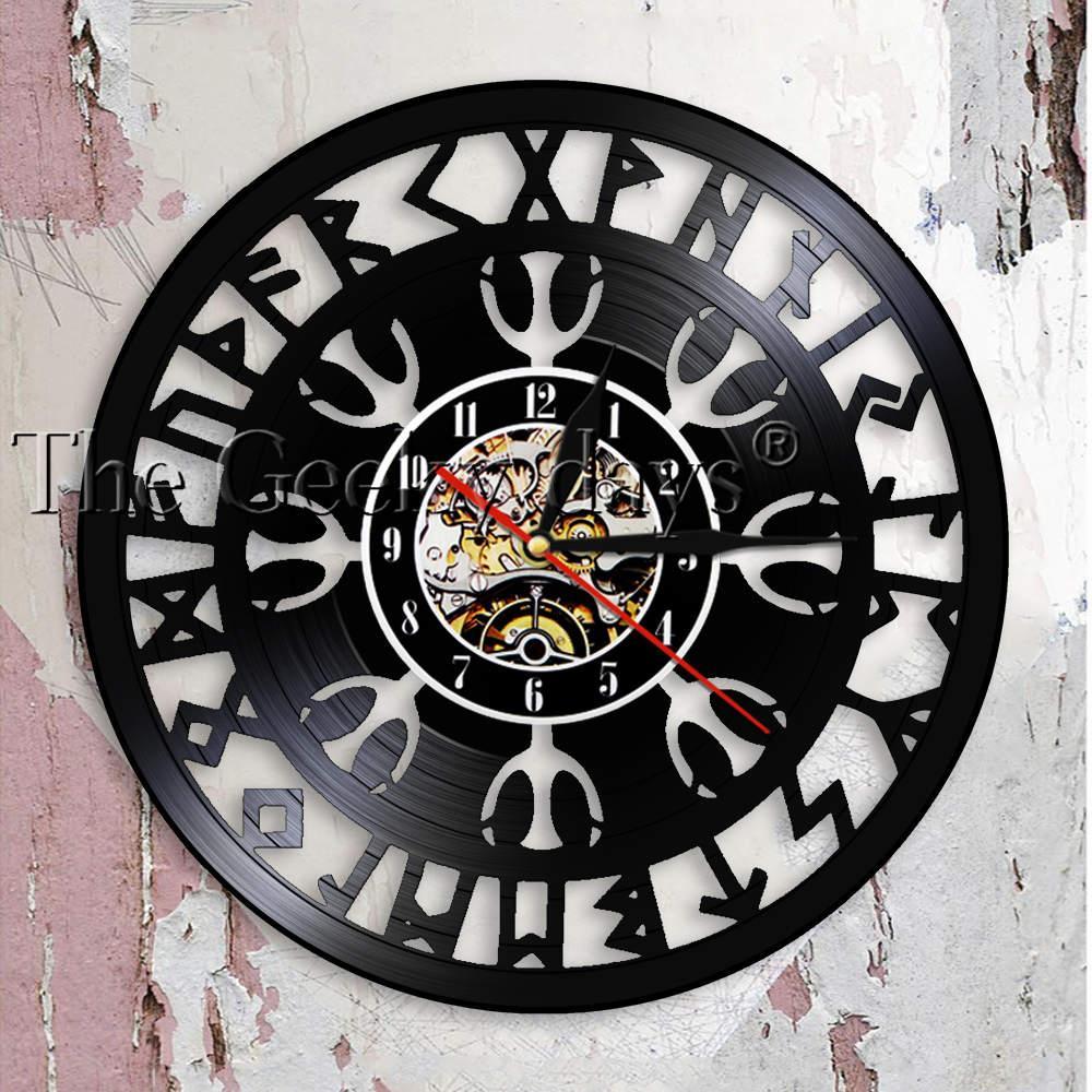 Mysterious Norse Magick Viking Compass Wall Clock Norse Talisman