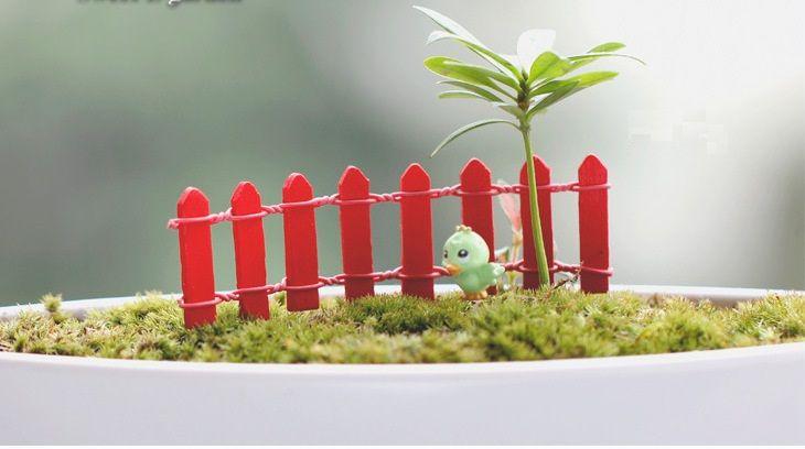 Mini Clôture Petite Barrière En Bois Résine Miniature Fée Jardin Décorations Clôtures Miniatures pour Jardins Barrières Minuscules Vente Chaude