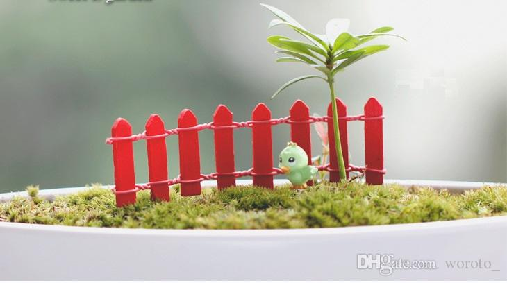 Mini Fence Small Barrier Wooden Resin Miniature Fairy Garden Decorations Miniature Fences for Gardens Tiny Barriers Hot Sale