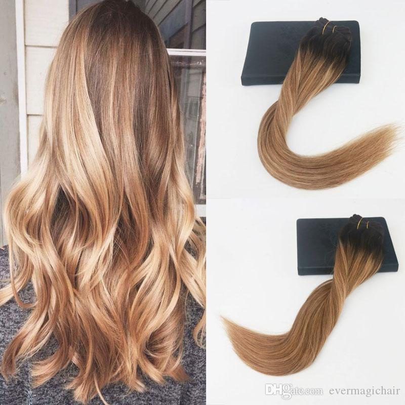 14 24 120gram Balayage Color 2627 Brazilian Hair Extensions Full