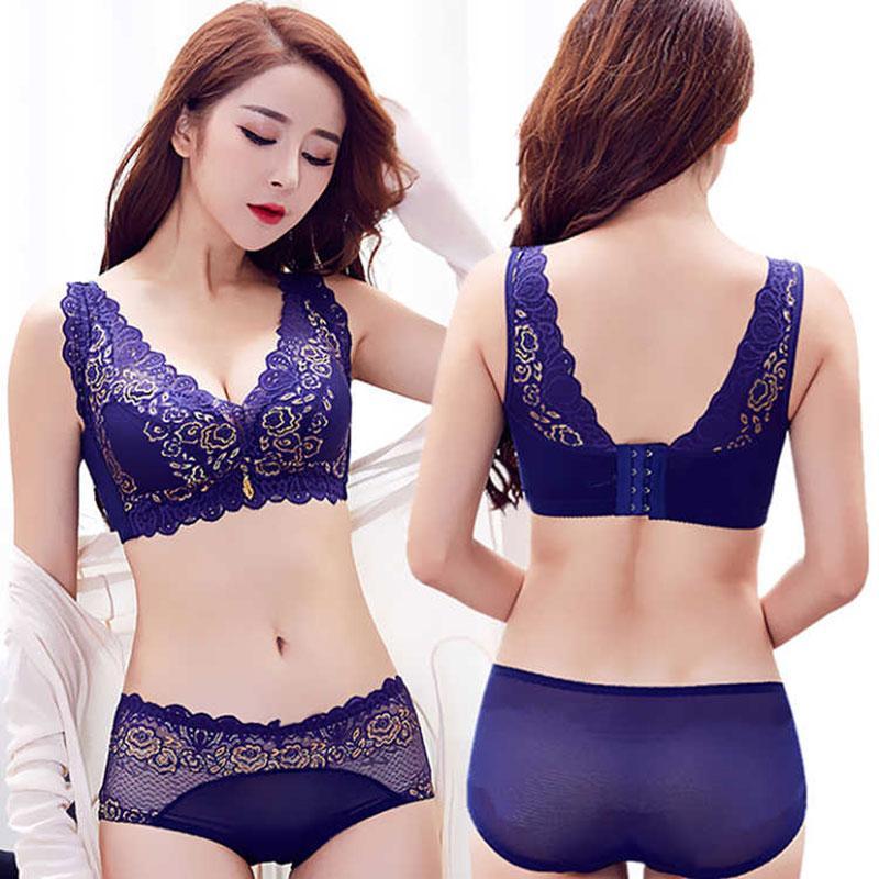 8f3b8e1e8 2019 Women Lace Bra Wireless Bras Sexy Lingerie Set For Women Push Up Bra  Set Sexy Underwear Brassiere From Elizabethy