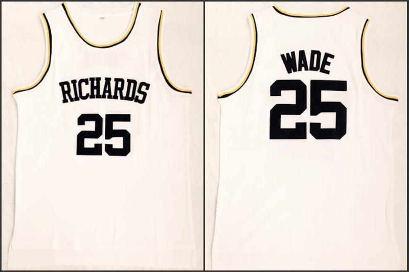 e29017a1d78 ... coupon 2019 men richards high school basketball jersey 25 dwyane wade  100 stitched embroidery swingman fast