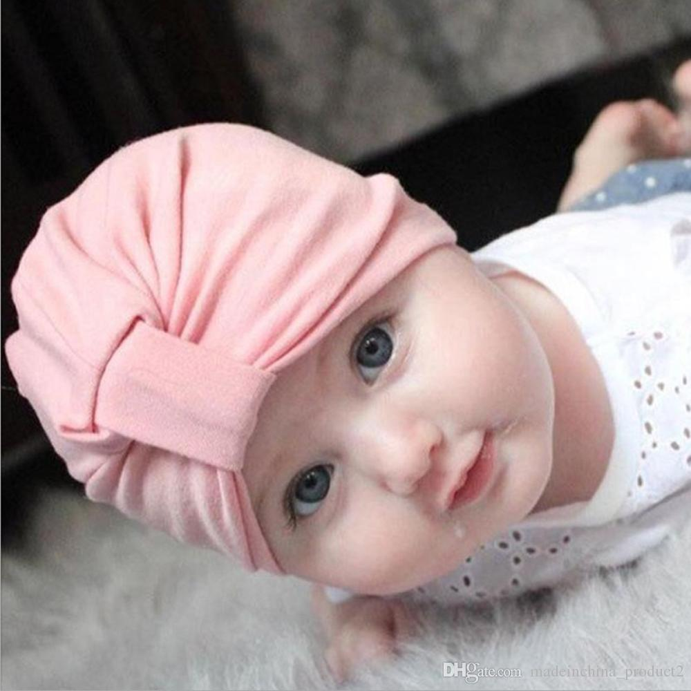 c8892e8531d 2019 Baby Cotton Hat Unisex Girls Boys Hats Newborn Photography Props Candy  Color Beanies Accessories From Madeinchina product2