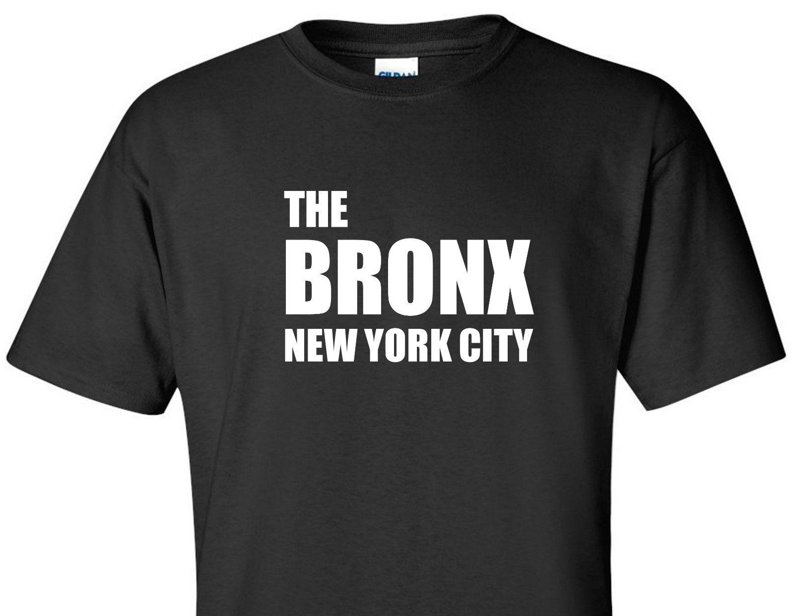 THE BRONX T SHIRT NEW YORK CITY NY NYC PRIDE URBAN SHORT SLEEVE TEE BLACK  SHIRT Funniest T Shirt Comical T Shirts From Idesignz bd1b820868c