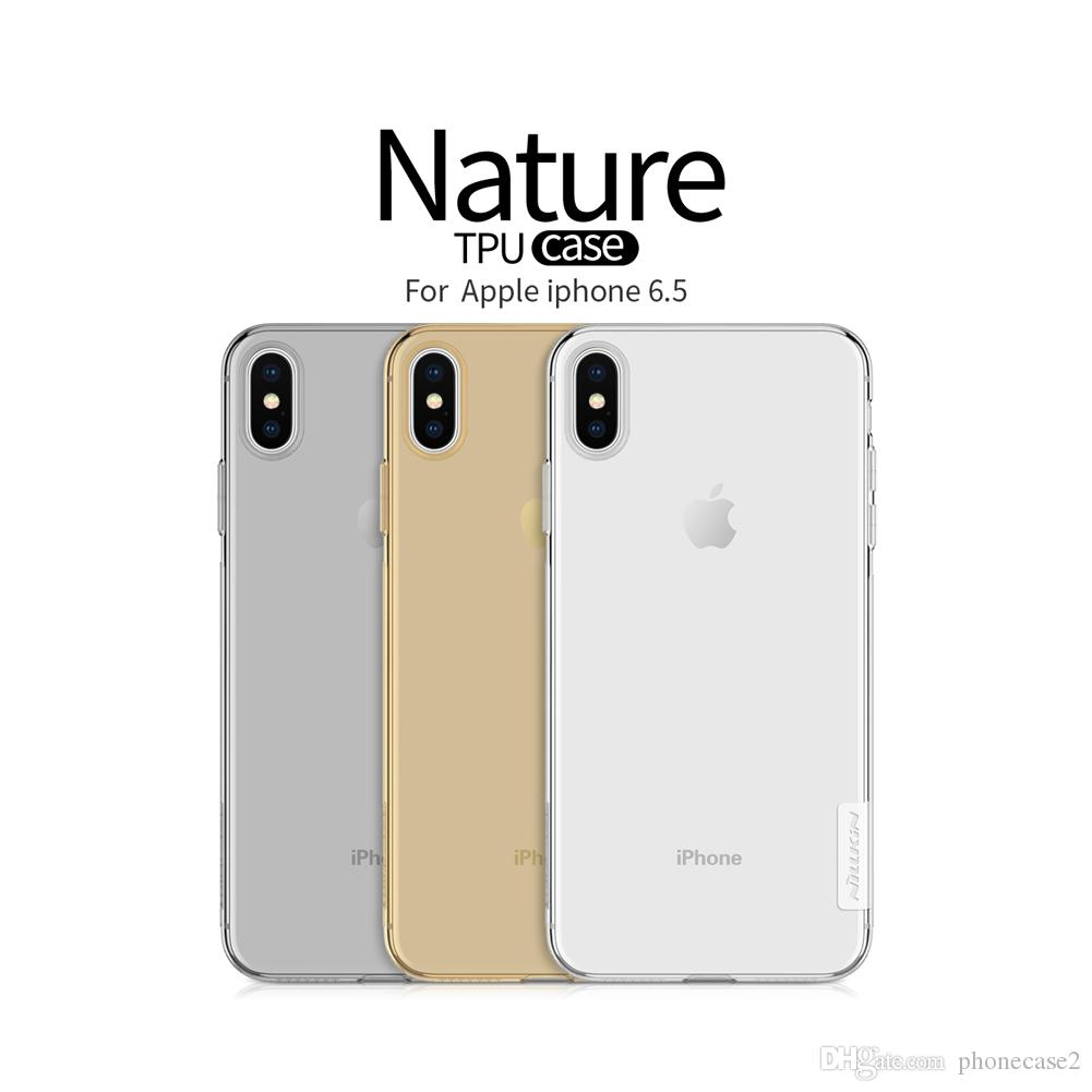 the latest 7fd5f d059f Case for APPLE iPhone 6.1 Original NILLKIN Nature TPU Transparent Soft Back  Cover For iPhone 6.5 Case