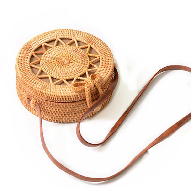 92397607f92f 2018 New Round Straw Bag Handbags Women Summer Rattan Bag Handmade Woven  Beach Handbag For Women Bag Y18102004 Online with  56.82 Piece on Gou04 s  Store ...