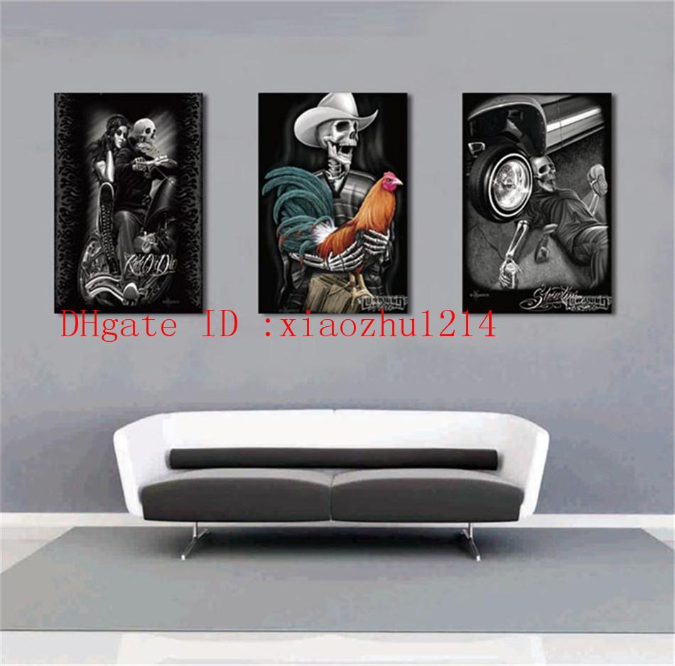 Merveilleux Discount Skull Tattoo,Home Decor Hd Printed Modern Art Painting On Canvas  Unframed/Framed From China | Dhgate.Com