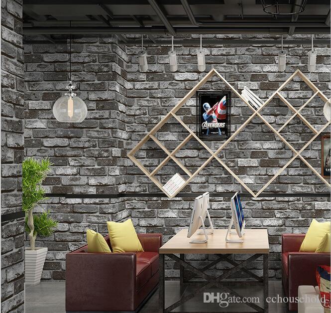 Vintage Stacked Brick 3d Brick Wallpaper Roll Grey Brick Wallpaper