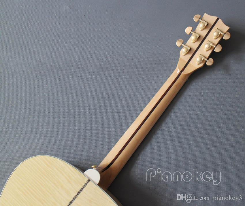 OEM Custom handcrafted acoustic guitar,43 inch Jumbo wood color China made guitar electric acoustic