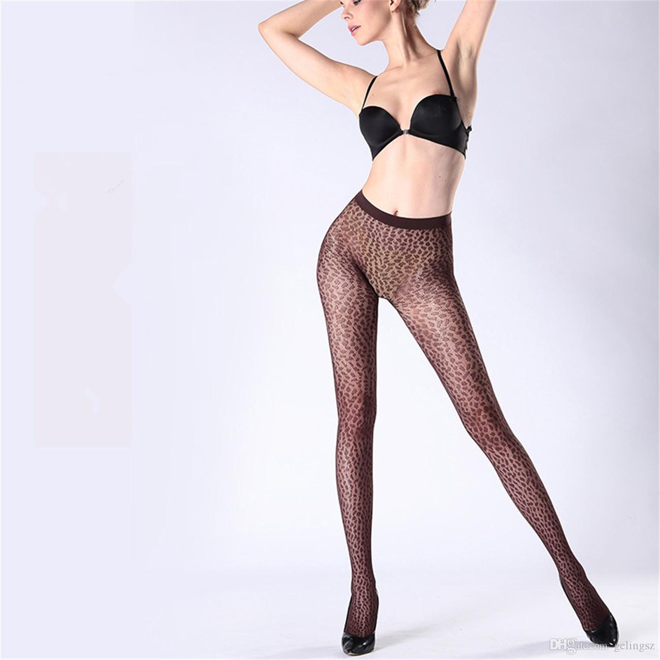 8d2aa938658 New Tights Women s Summer Sexy 13D Thin Seamless Jacquard Stockings  Hollowed-out Leopard Print Anti-hook Pantyhose