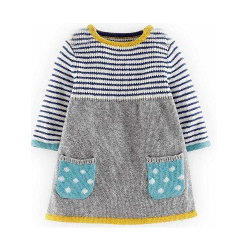 fc805d3fb 2018 Autumn Winter New Girls Sweater Dress Kids Baby Sweater ...