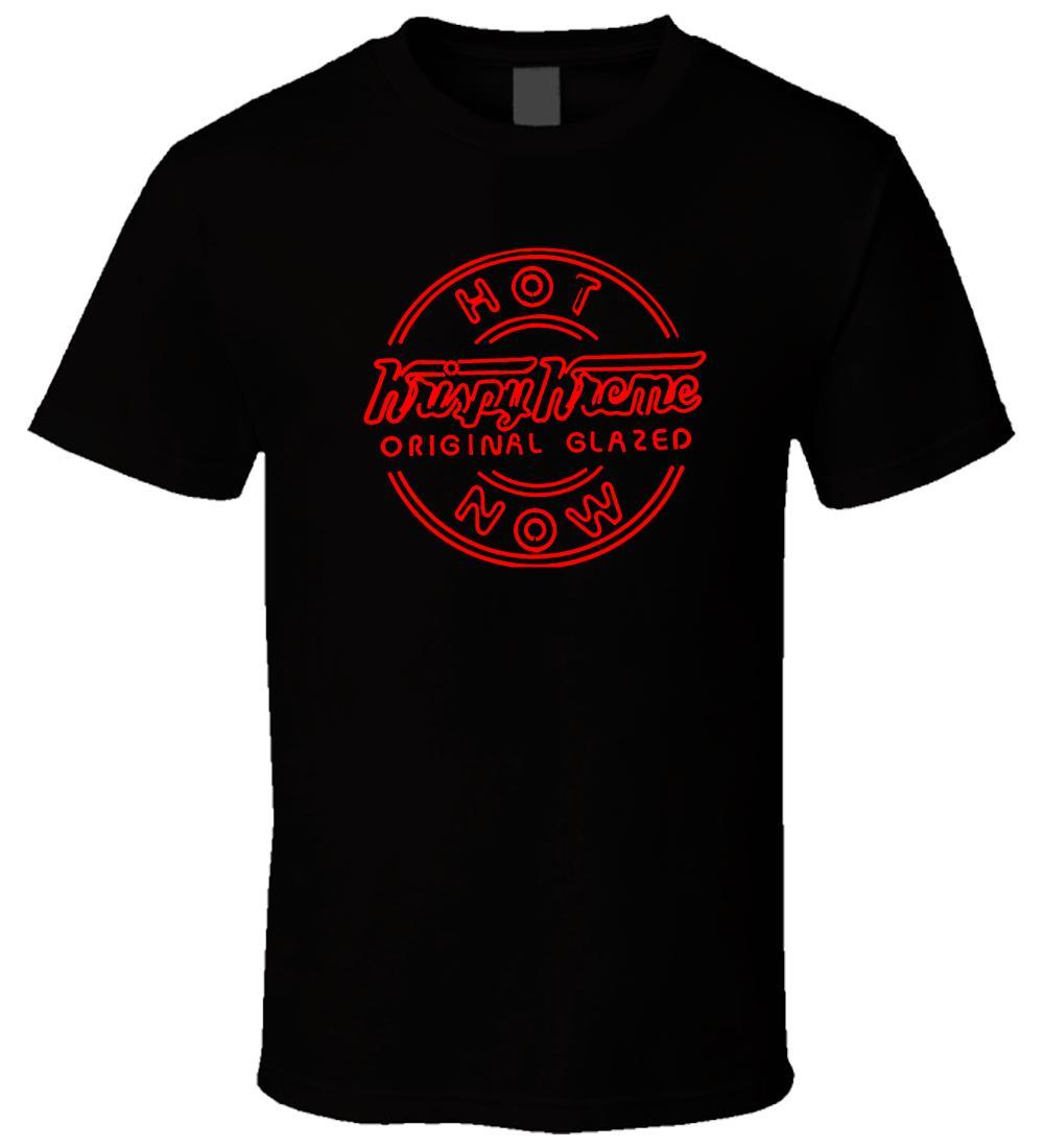 f78639b65d592a Krispy Kreme Donut Glazed 1 Black T Shirt Cool Casual Pride T Shirt Men  Unisex New Fashion Tshirt Tops Ajax Awesome T Shirt Sites Tees Designs From  ...