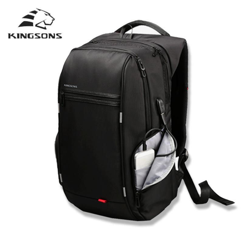 8248eab7ceb7 Kingsons Brand External USB Charge Backpack Male Anti Theft Waterproof  Laptop Backpack 13 15 17 Inch Mochila Student School Bags Y1890401 Backpacks  For ...