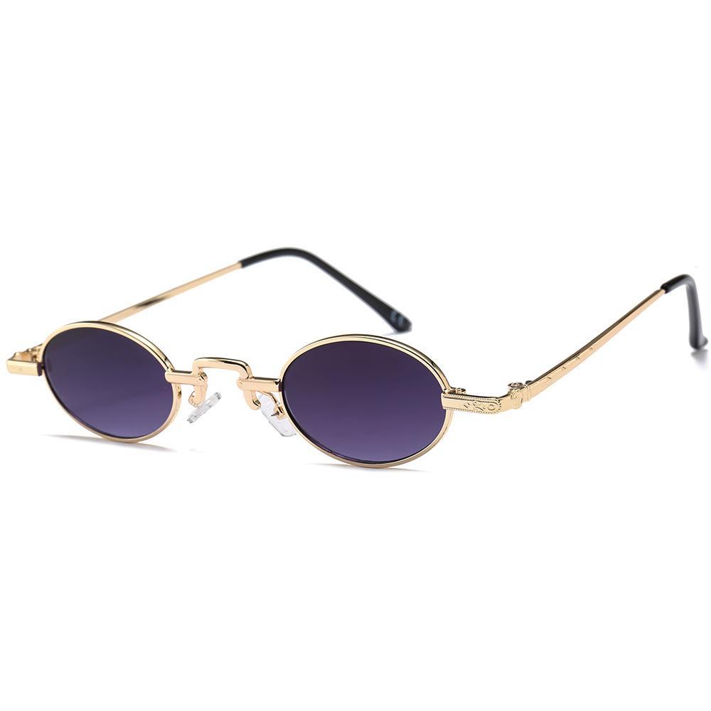 1a3d98cd84c3f Compre Óculos De Sol Elegantes Pequenos Clássicos Retro Vintage De Metal  Oval Mulheres Moda Sombra De Supaonline
