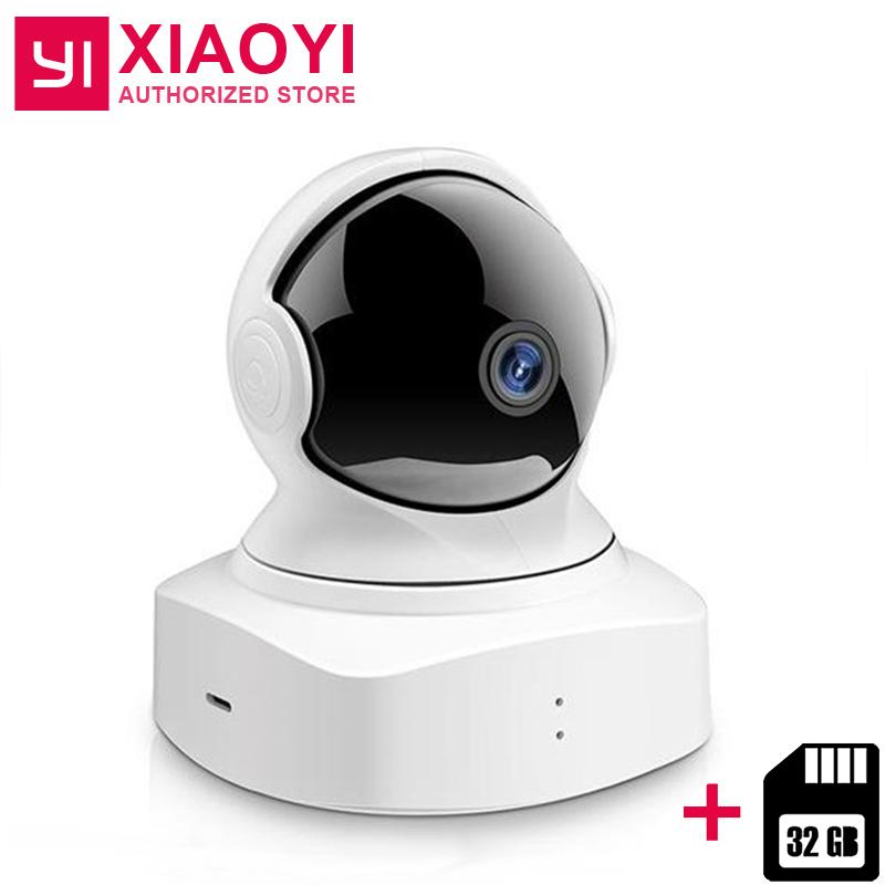 YI cloud Dome Camera 32 GB scheda SD senza fili Wifi Camera Pan / Tilt / Zoom Home Baby Monitor IP Cam HD 1080P visione notturna