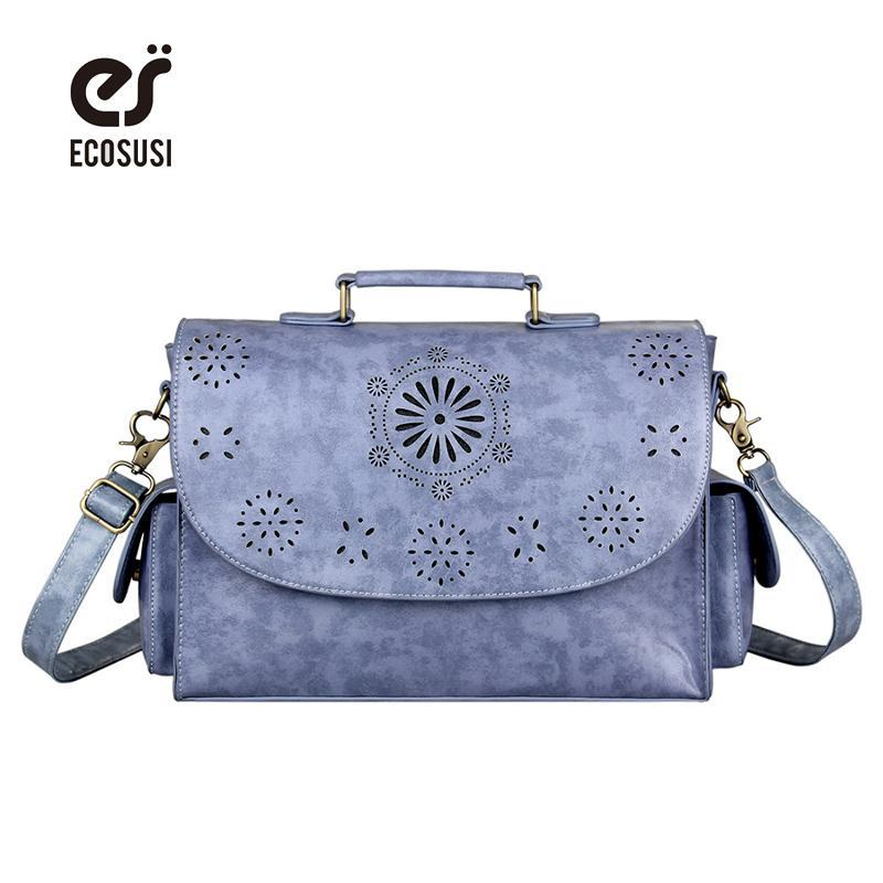 ECOSUSI 2018 Vintage Unisex Woman Shoulder Bags Hollow Out Messenger ... 1e0e31f0a1bab