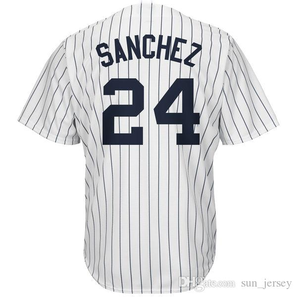 0debe7a70 2019 Men S New  24 Gary Sanchez Fashion Navy Cool Base Player Jersey From  Sun jersey
