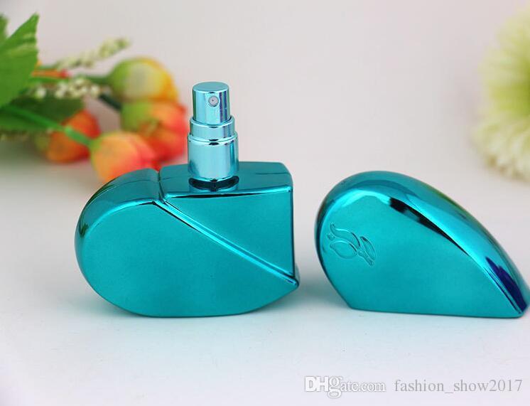 Moda Perfume Atomizer Garrafa forma do coração garrafa reutilizável 25ml Vazio Viagem Mini Atomizer Bomba de spray garrafa de perfume