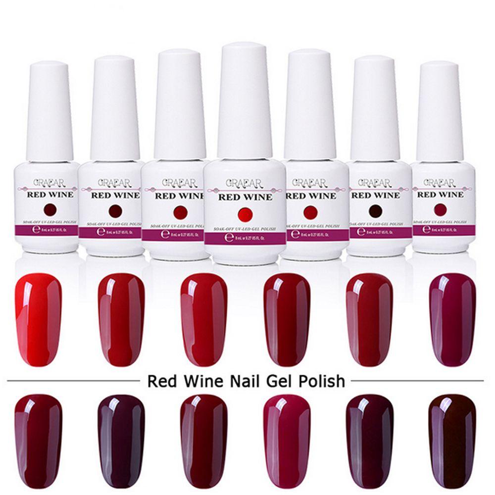 8ml Harmony Gelish Nail Polish Red Series Soak Off Gel Nail Polish ...