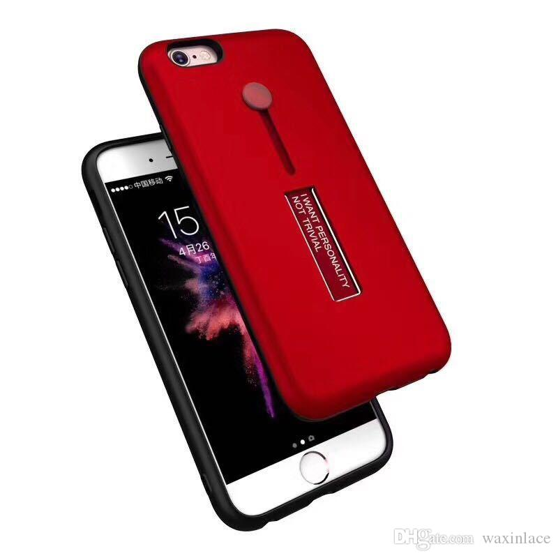 Phone Cases for iPhone 8 7 6 Stand Metal Holder Back Cover Mobile Case for iPhone X 7 6 6s Plus Capa