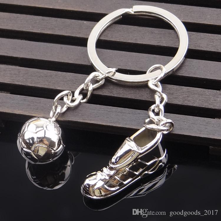 2018 Russia World Cup Football Mascot Metal Keychain Key ring Souvenir Pendant Hanging Chain Keychain Car Key Rings Holder MK271