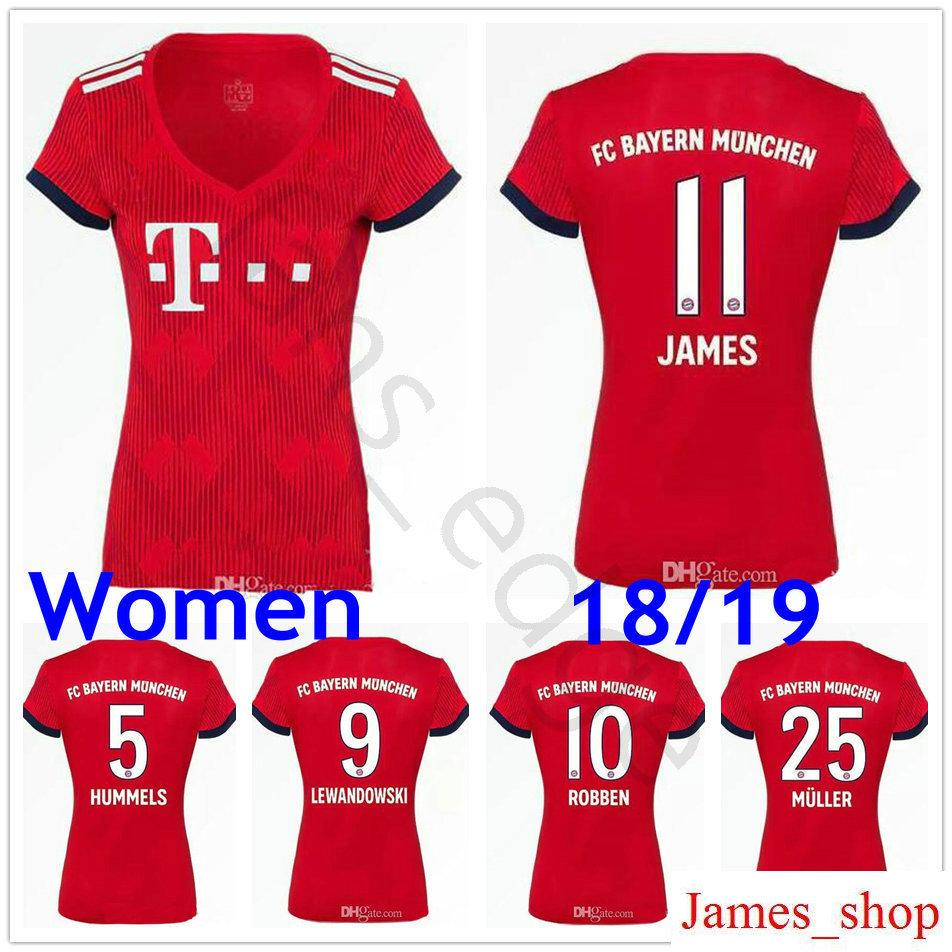 ... 2018 Women Bayern Soccer Jerseys Kimmich Tolisso Alaba James f408f97a8