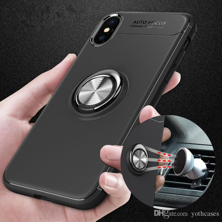 For Iphone 8 Plus Ring Holder Phone Soft Tpu Case For Ihpone 6 Plus