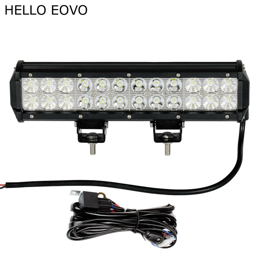 Led Boat Wiring Hello Eovo 12 Inch 72w Work Light Bar Kit For Off Road Driving Offroad Car Truck 4x4 Suv Atv Combo White Lights Lamp