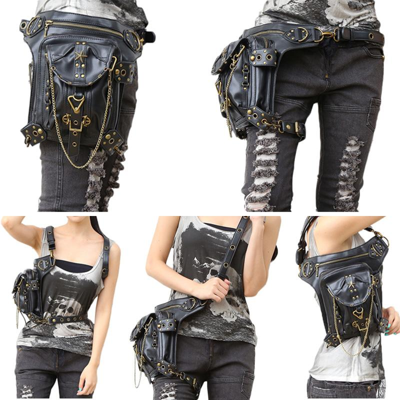 e4da0910cc4a Fashion Steampunk Bag Steam Punk Retro Rock Gothic Goth Shoulder Waist Bags  Online with  110.16 Piece on Chongyangclothes004 s Store