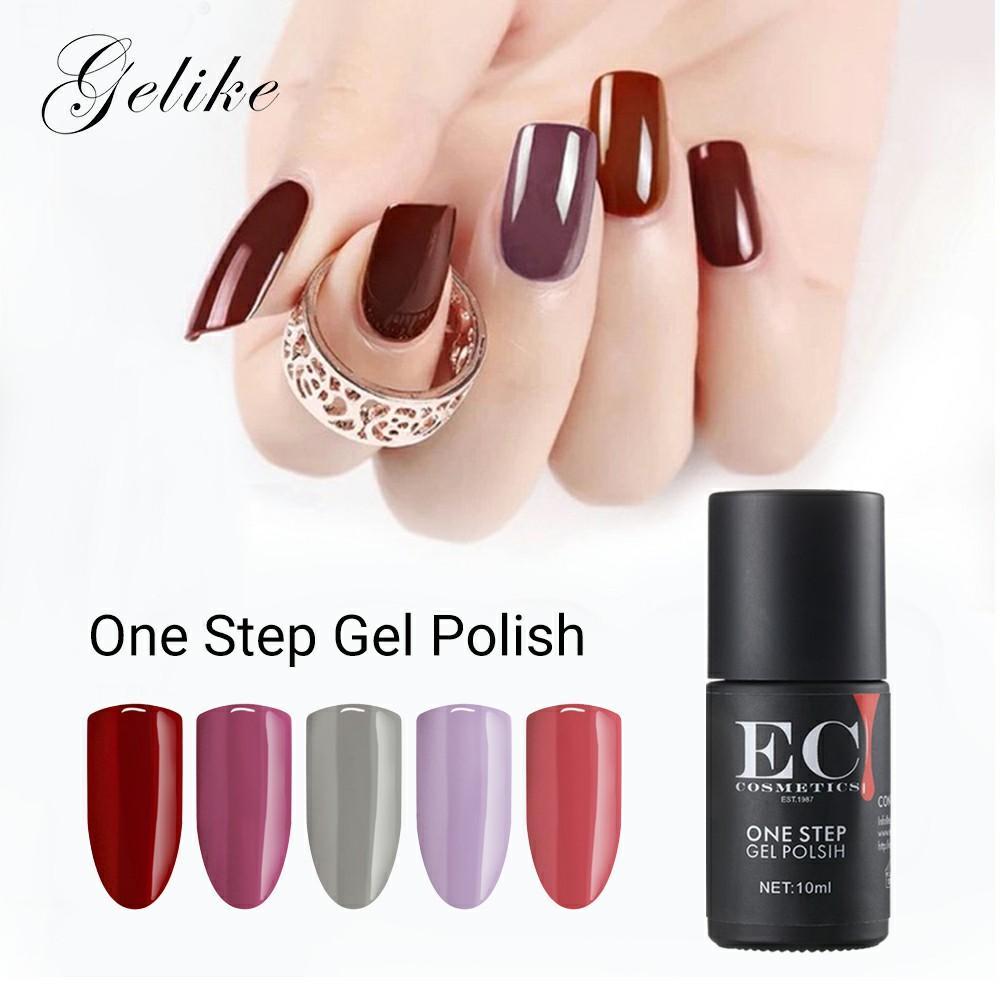 Gelike Nail Art One Step Gel Nail Polish 10ml Perfect Summer 3 In 1 ...