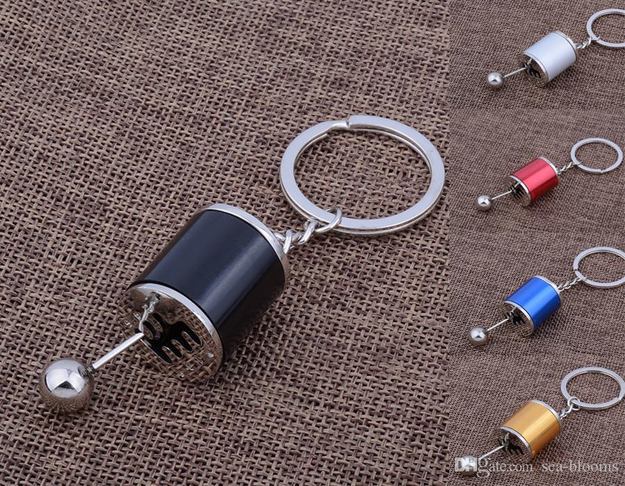 Auto Key Chains Model Gear Shift Gearbox Shape Pendant Key Chain Ring Wave  Box Keyring Key Rings Keyfob Accessories Free DHL D511Q