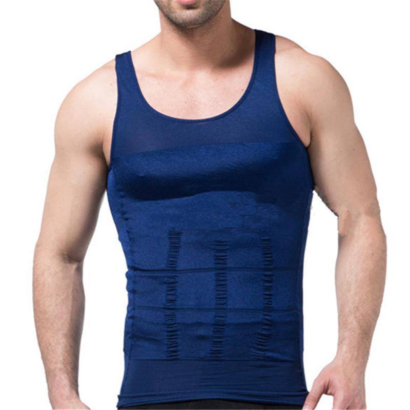 f28a1292f7f9a Male Chest Compression Vest Belly Slimming Shapewear Men Tummy Trimmer  Shaper Sleeveless Lose Fat Weight Reducer Body Shapers Online with   30.79 Piece on ...