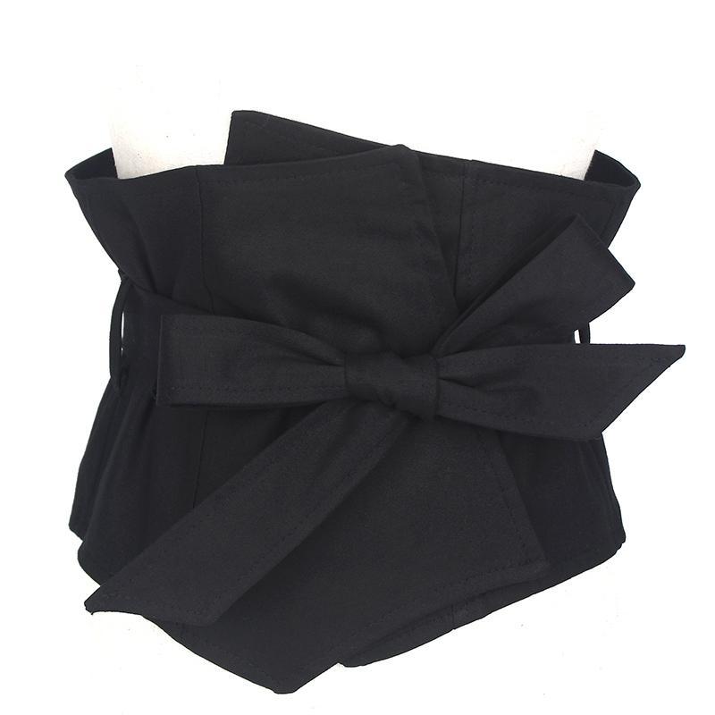Acheter Qualité Costume Tissu Robe Ceintures Femmes Noir 19 CM Large  Ceinture Robe Accessoires Femme Ceinture Caestus Minceur Corset Ceinture  Sangle ... 84d1fa34bed