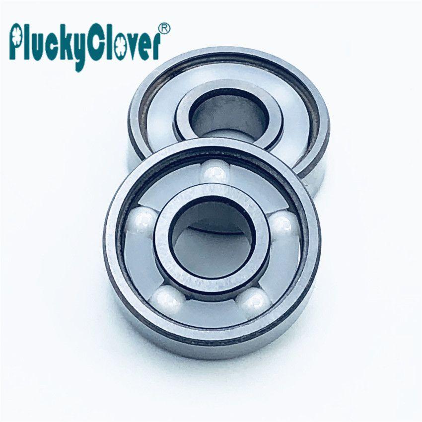 1pc 627 bearing Double rocker Skateboard Derby Roller Ceramic Bearing 5  balls Fast speed 7mm Si3N4 Zro2 ball bearings freestyle