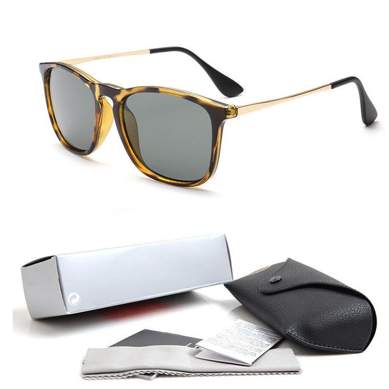 2018 Adam Için En Kaliteli Yeni Moda 4187 Güneş Gözlüğü Kadın Erika gözlük Tasarımcı Marka Güneş Gözlükleri Matt Leopard Degrade Lensler Kutu ...