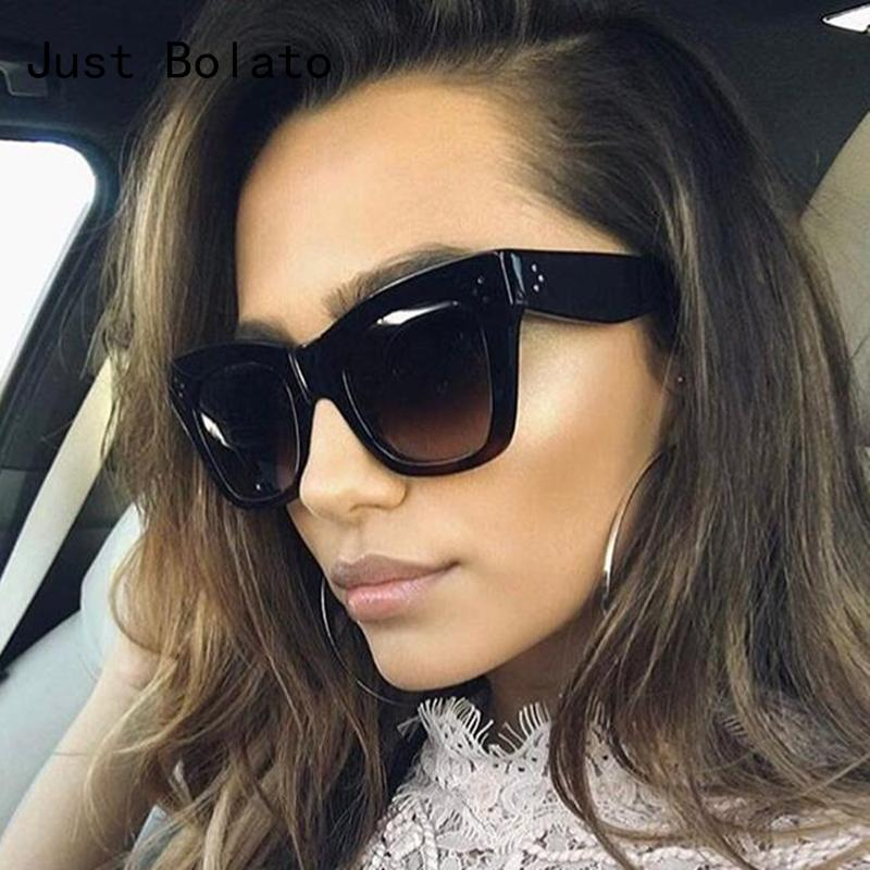 952fb529bdb Luxury Flat Women Sunglasses Chic Brand Designer Vintage Lady Oversized  Sunglasses Men Sun Glasses Big Frame Rivet Shades UV400 Foster Grant  Sunglasses ...