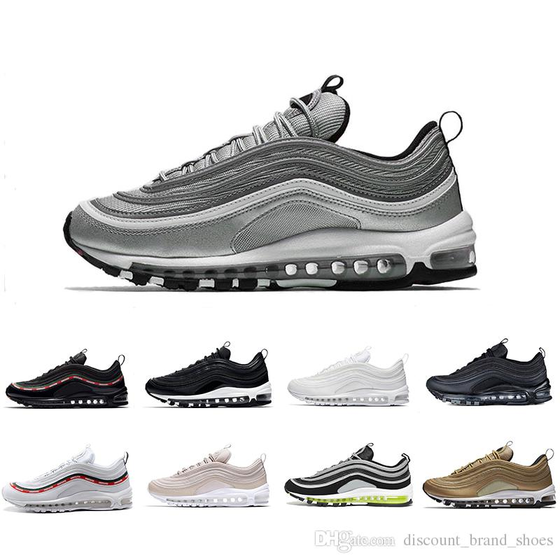 2462bec1cd322 Discount 97 Sliver Bullet Mens Women Running Shoes 97s UNDEFEATED ...