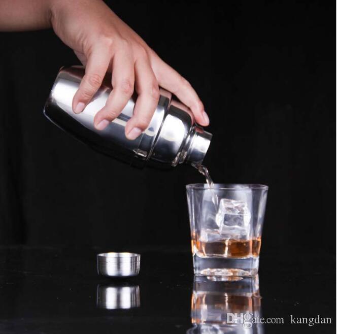 Martini in acciaio inox Cocktail Shaker Bar Tools Vino Shaker Boston Shaker bicchiere da vino Party Bar