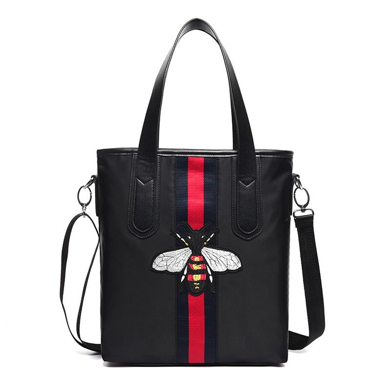 High Quality Shoulder Bags Ladies Nylon Totes Bag Brand Designer Cross Body  Bags Little Bee Embroidery Women Clutch Bags Handbag Branded Bags Leather  ... d0a93c0b237db