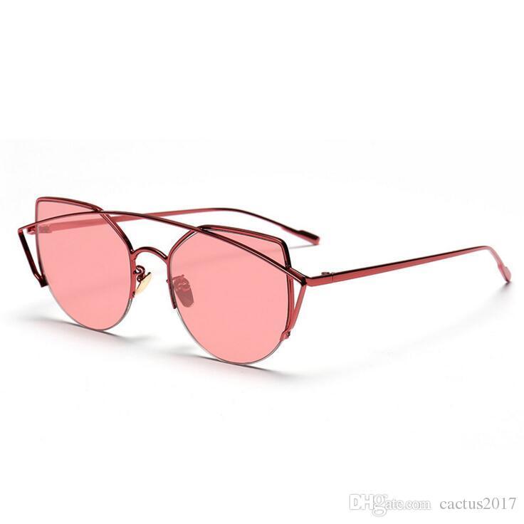 2b49b08166 Eyewear Cat Eye Fashion Sunglasses Pink Brand Woman Full Frame Metal High  Quality Women Fashion 2018 Luxury Women Sunglasses Trending Cat Eye  Sunglasses ...