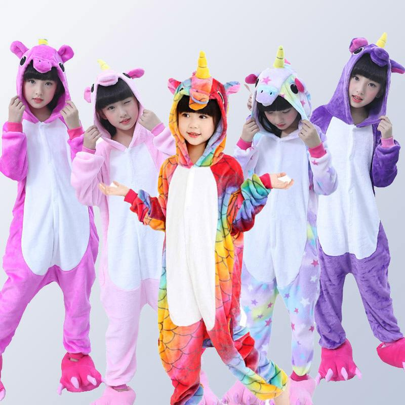 02839a2e8 Children Unicorn Pajamas For Boys Girls Animal Scale Pegasus Unicorn ...