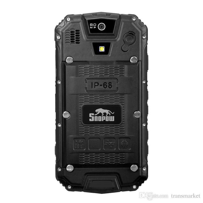 Snopow M5 IP68 Rugged Walkie Talkie Mobile Phone MTK6735 Quad Core 2GB RAM 16G ROM 4.5 inch QHD 4G LTE NFC OTG 13MP PTT
