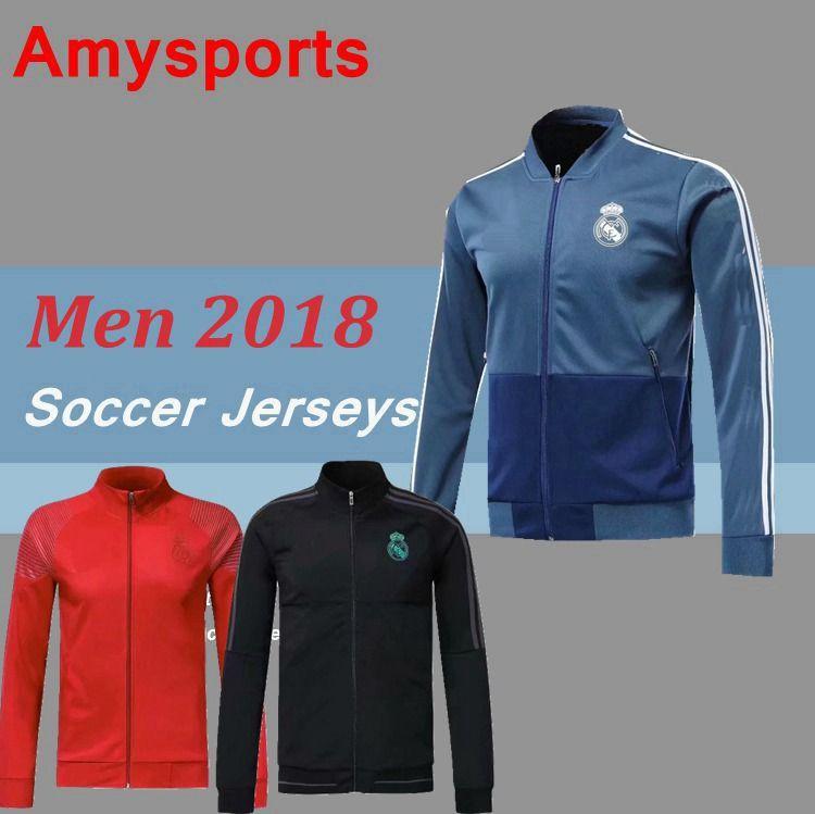 d6dc28f8d 2018 2019 Real Madrid Soccer Jacket Survetement BALE KROSS Jogging ...